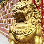 Statue Of Golden Lion