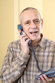 Amicable Man On Phone