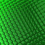 Green scales background 3d