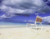 Empty Chair on Beach