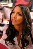NEW YORK NY - NOVEMBER 13: Model Lais Ribeiro prepares backstage