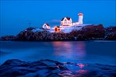 Nubble Lighthouse During Holiday Season