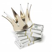 golden crown and dollars