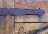 Rustic Hand Forged Iron Arrow Hinge