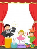 foto of juggler  - Background Illustration of Kids Performing in a Circus - JPG