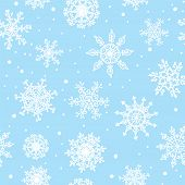 Snowflakes seamless pattern hand drawn