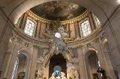 Interiors of Saint Roch church, Paris, France
