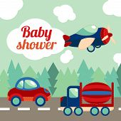 Baby shower toy transport card