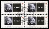 German Postage Stamps With Portrait Of Albert Einstein