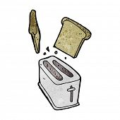 cartoon toaster spitting out bread