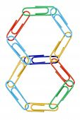 Paperclips Arranged Into The Shape Of The Number 8.