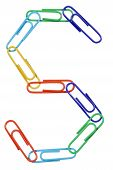 Paperclips Arranged Into The Shape Of The Letter S.