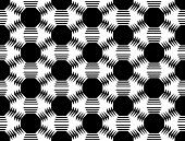 stock photo of octagon  - Design seamless monochrome octagon geometric pattern - JPG