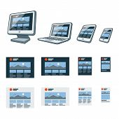 Responsive Website Design On Different Electronic Devices