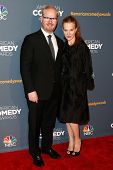 NEW YORK-APR 26: Comedian Jim Gaffigan (L) and wife Jeannie Noth attend the American Comedy Awards a
