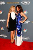NEW YORK-APR 26: Actors Amy Poehler (L) and Aubrey Plaza attend the American Comedy Awards at the Ha