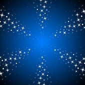 image of starry night  - Starry rays vector background - JPG