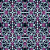 Seamless Abstract Floral Pattern Of The Same Type