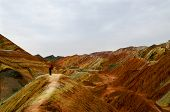 image of landforms  - Zhangye Danxia landform located in Linze County - JPG