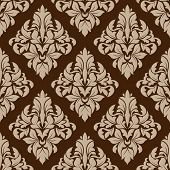 Seamless pattern in almond and cinnamon colors