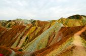 pic of landforms  - Zhangye Danxia landform located in Linze County - JPG