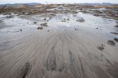 small volcano of mud