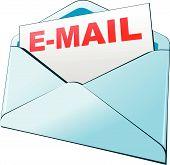 isolierte e-Mail-Symbol