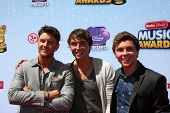 LOS ANGELES - APR 26:  Emblem3, Drew Chadwick, Keaton Stromberg, Wesley Stromberg at the 2014 Radio Disney Music Awards at Nokia Theater on April 26, 2014 in Los Angeles, CA