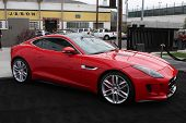 LOS ANGELES - APR 25:  2014 Jaguar F Type Coupe at the 2014 LA Modernism Show Opening Night at 3Lab