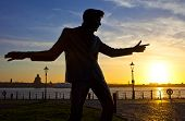 Billy Fury Statue At Albert Dock In Liverpool