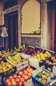 Vintage European Fruit Market