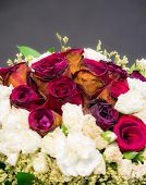 Old, Wither, Roses Bouquet Isolated