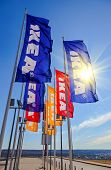Ikea Flags Against Sky