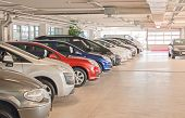 picture of basement  - Many cars in parking lot or garage - JPG
