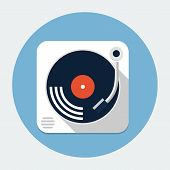 Vector turntable flat icon
