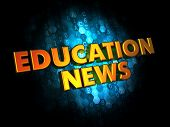 Education News - Gold 3D Words.