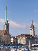 Zurich, Lady Minster And St.peter Church