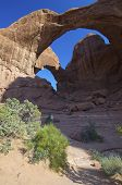 Triple Arches in Arches National Park, Utah, United States