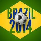 Soccer ball of Brazil 2014