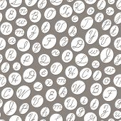 stock photo of cursive  - Seamless pattern with English cursive letters - JPG