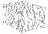 Vector Cube Maze (labyrinth)