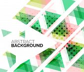 Triangles, geometric clean abstract background, web business or hi-tech design template