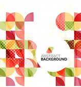 Circle geometric abstract background, colorful business or technology design for web on white with s