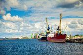 Ships In Port Of Klaipeda