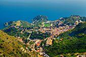 View Of Taormina From Castelmola