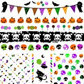 halloween party themed set with cute elements