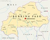 Burkina Faso Political Map