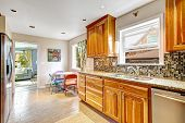 Kitchen Room With Mosaic Back Splash Trim