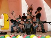 Nadym, Russia - June 28, 2008: Unknown Dancers Perform On Stage At The Celebration Of City Day.