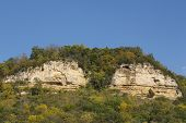 Twin Bluffs In Autumn